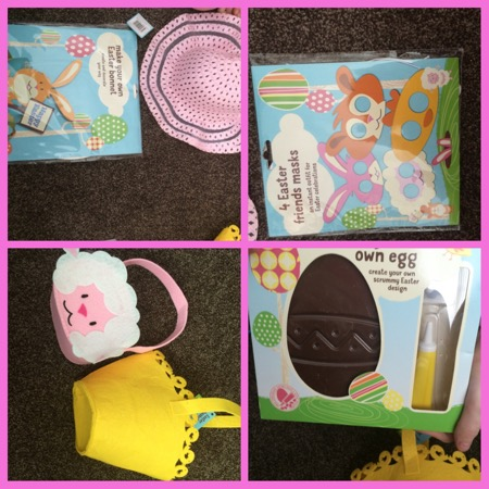 Easter crafts and treats at asda bizzimummy izebella looks incredibly cute in her little bunny ears whilst jordanna made her own special easter bonnet using the kit this is really easy to make negle Gallery