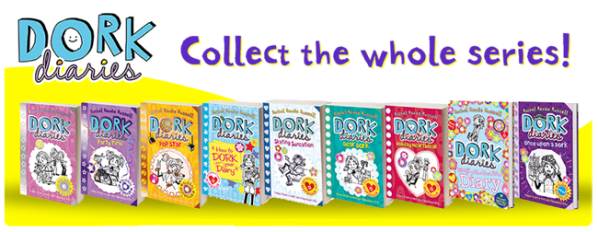 SET OF 2 DORK DIARIES BOOKS RACHEL RENEE RUSSELL